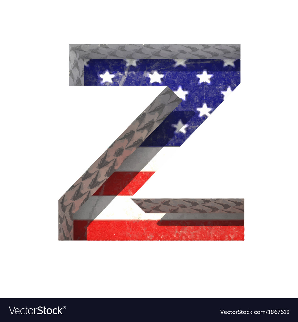 American cutted figure z paste to any background vector | Price: 1 Credit (USD $1)