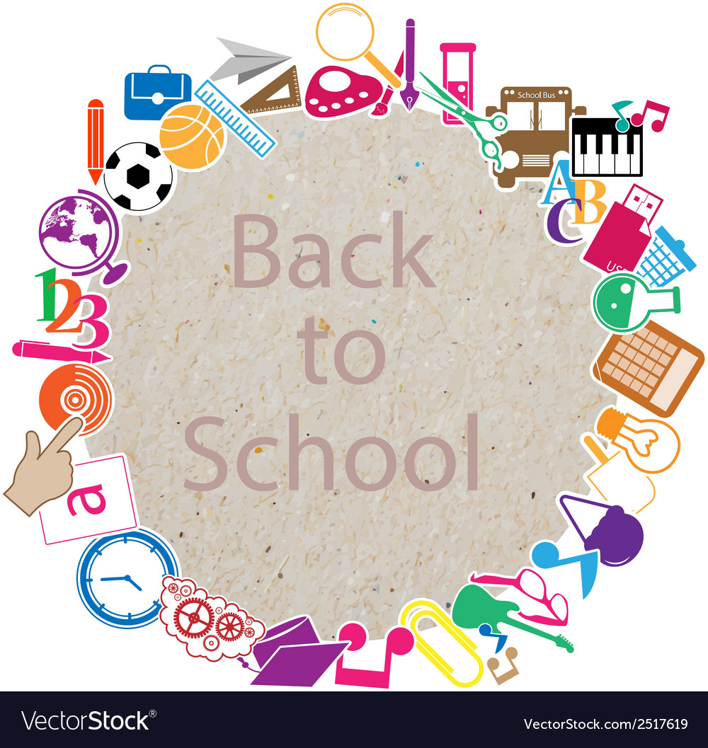 Back to school on paper vector | Price: 1 Credit (USD $1)
