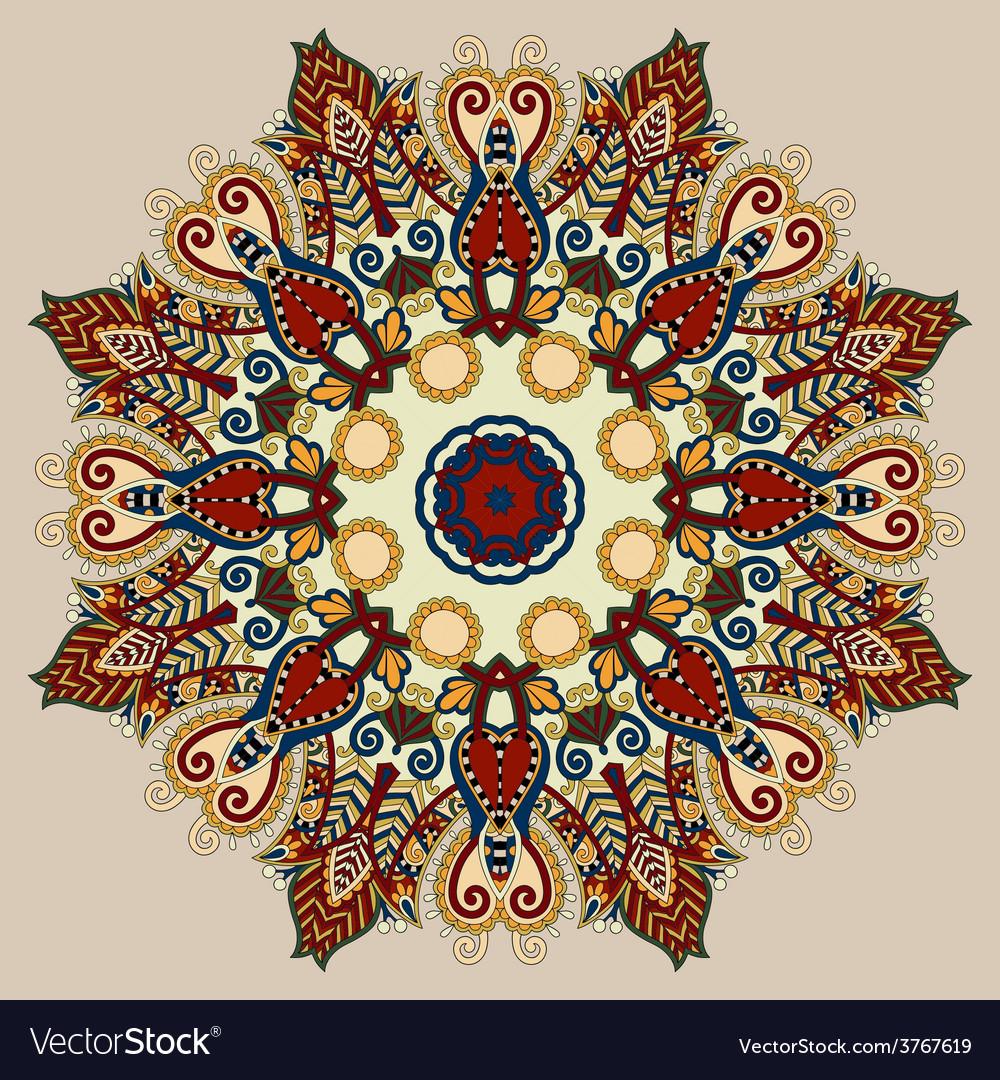 Beige colour mandala circle decorative spiritual vector | Price: 1 Credit (USD $1)