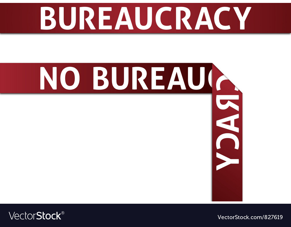 Bureaucracy and no bureaucracy vector | Price: 1 Credit (USD $1)