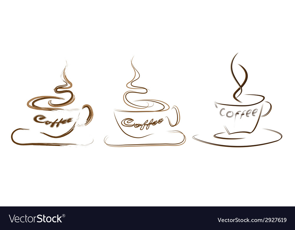 Collection of styled coffee labels vector | Price: 1 Credit (USD $1)