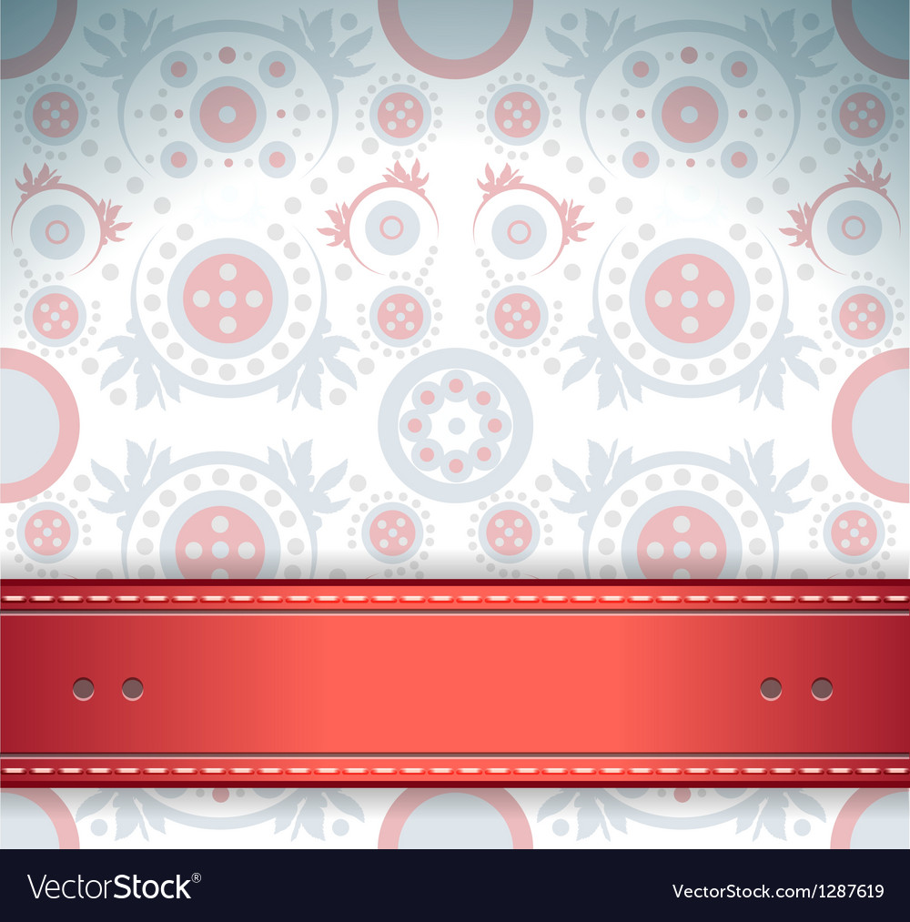 Elegant floral background invitation vector | Price: 1 Credit (USD $1)