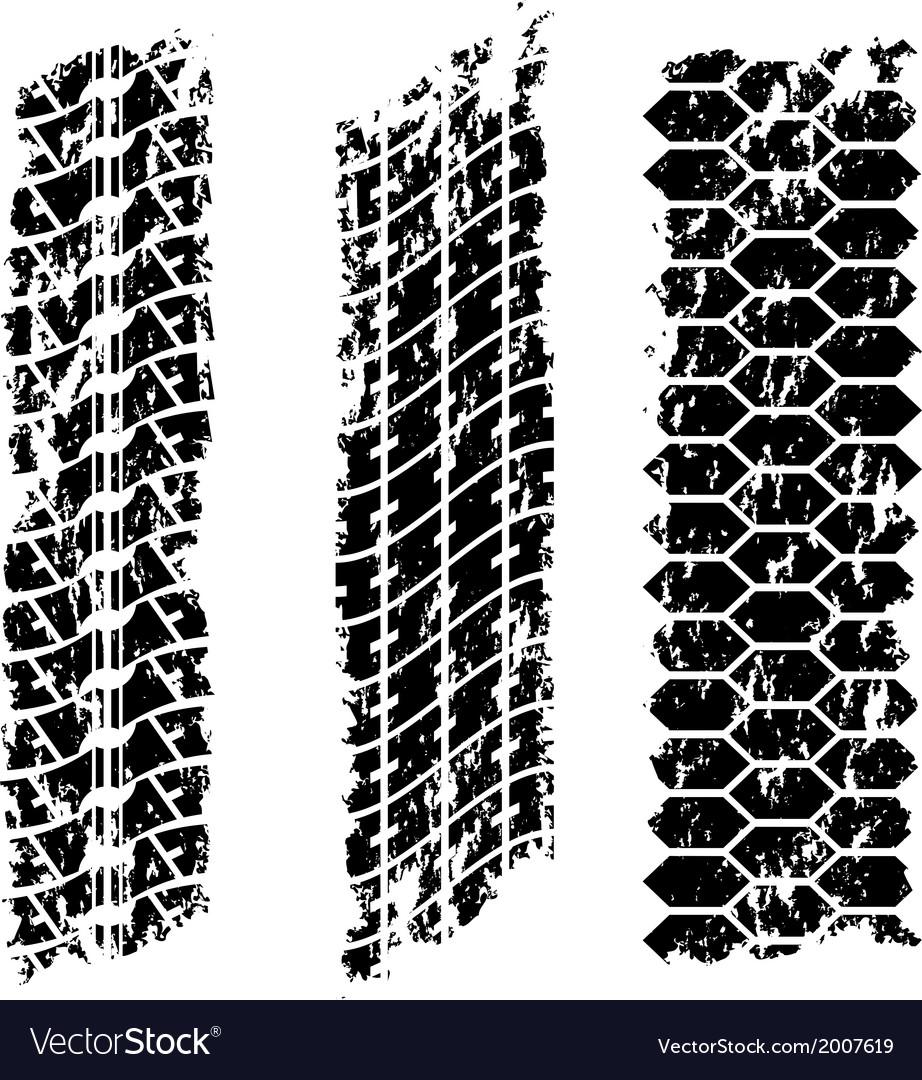 Grunge tire tracks vector | Price: 1 Credit (USD $1)