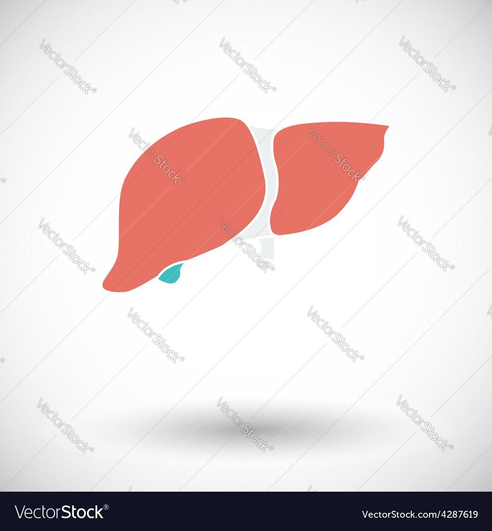 Liver icon vector | Price: 1 Credit (USD $1)