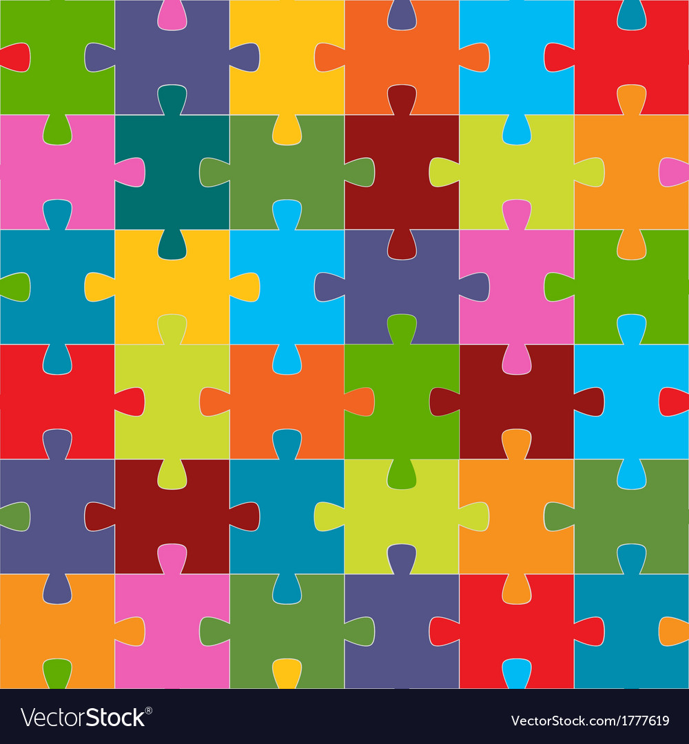 Seamless puzzle texture vector | Price: 1 Credit (USD $1)