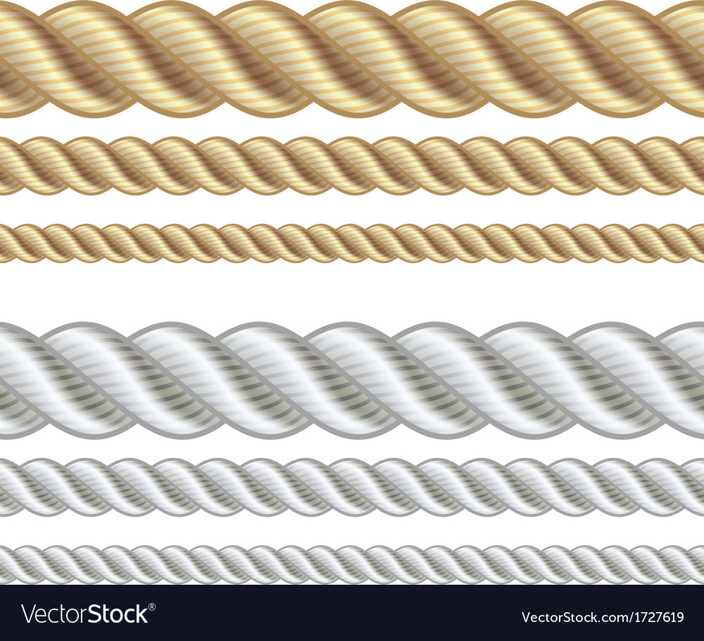 Set of different thickness ropes vector | Price: 1 Credit (USD $1)