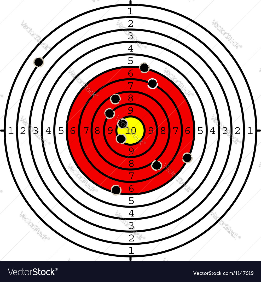Shooting target vector | Price: 1 Credit (USD $1)
