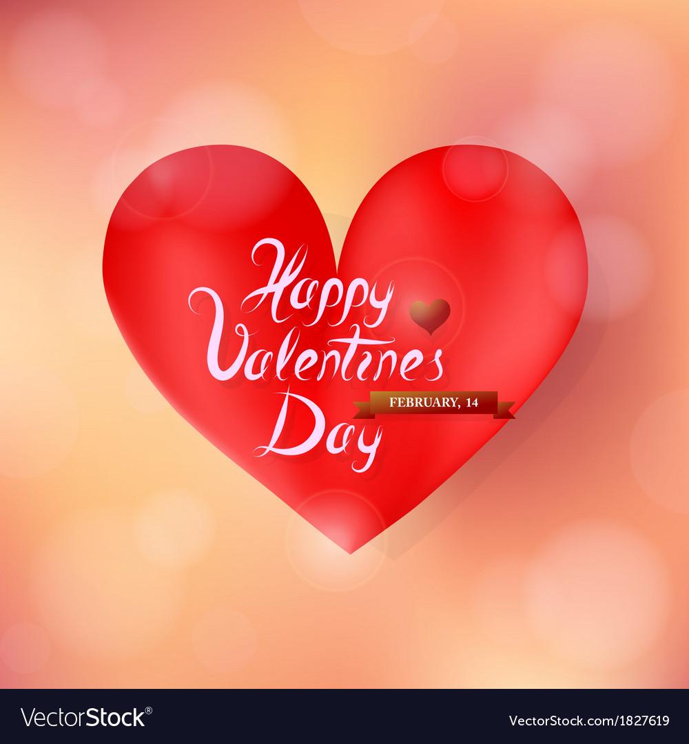 Valentines heart shape vector | Price: 1 Credit (USD $1)