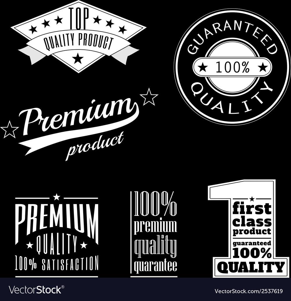 Vintage labels - premium and top quality products vector | Price: 1 Credit (USD $1)