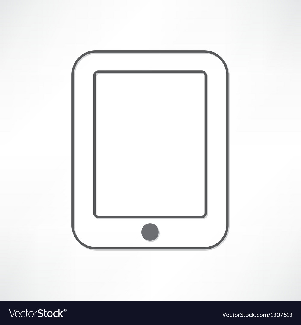 White ipad vector | Price: 1 Credit (USD $1)