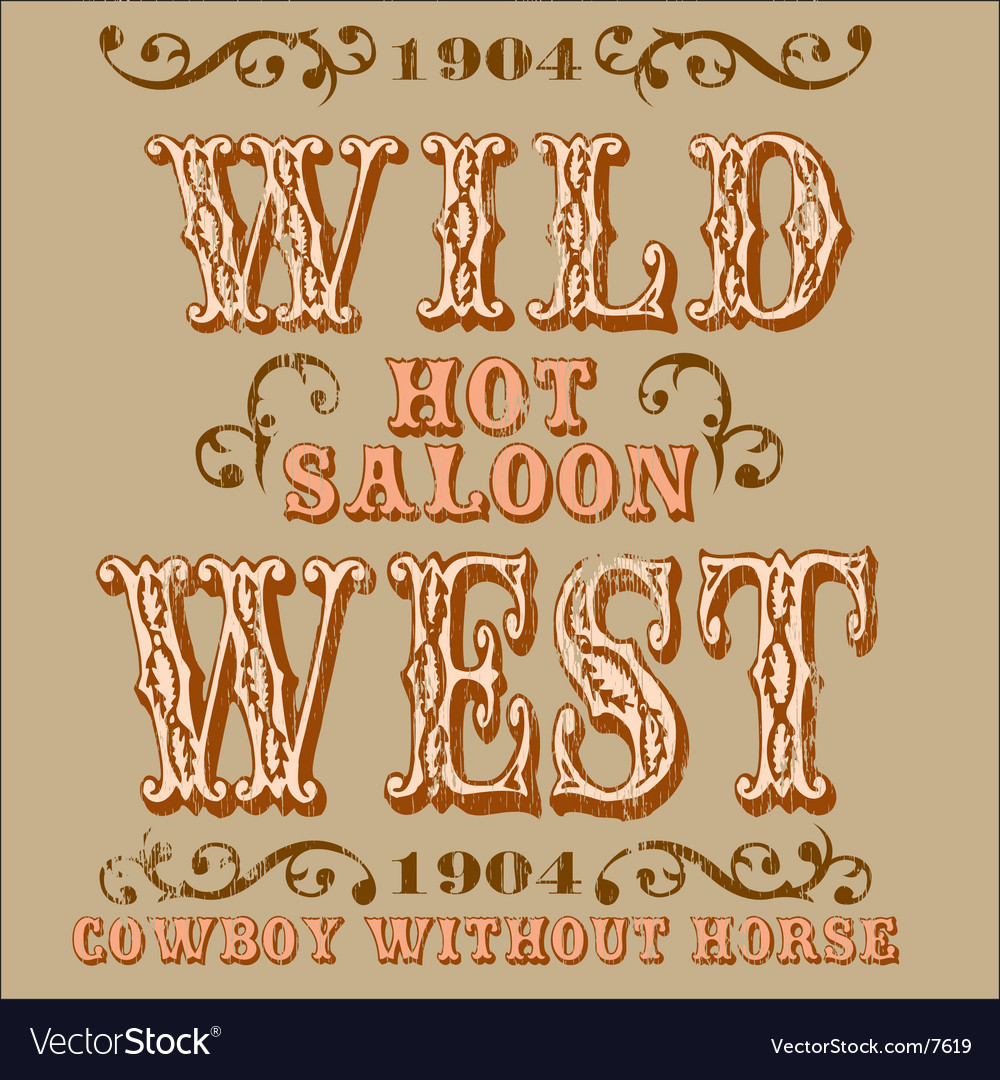 Wild west design vector | Price: 1 Credit (USD $1)