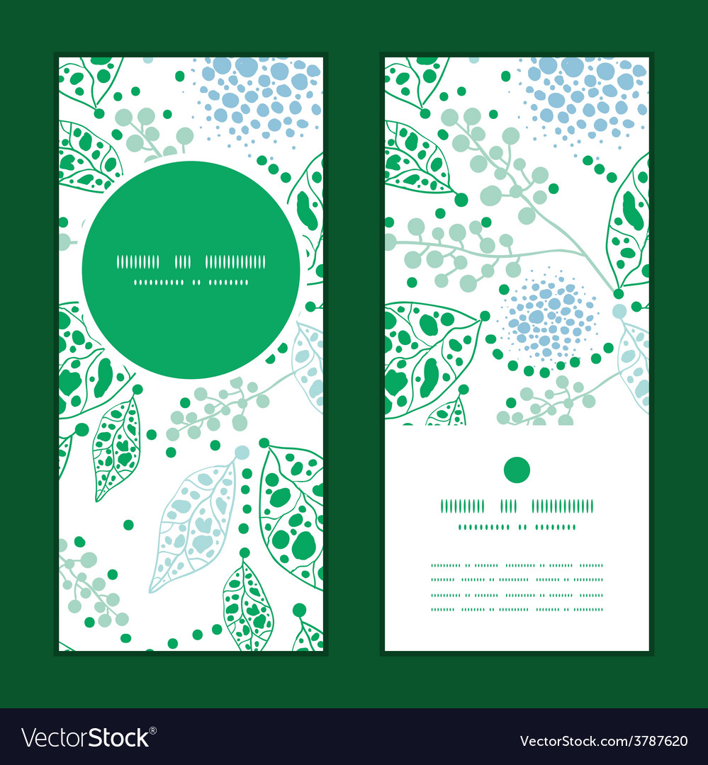 Abstract blue and green leaves vertical vector | Price: 1 Credit (USD $1)