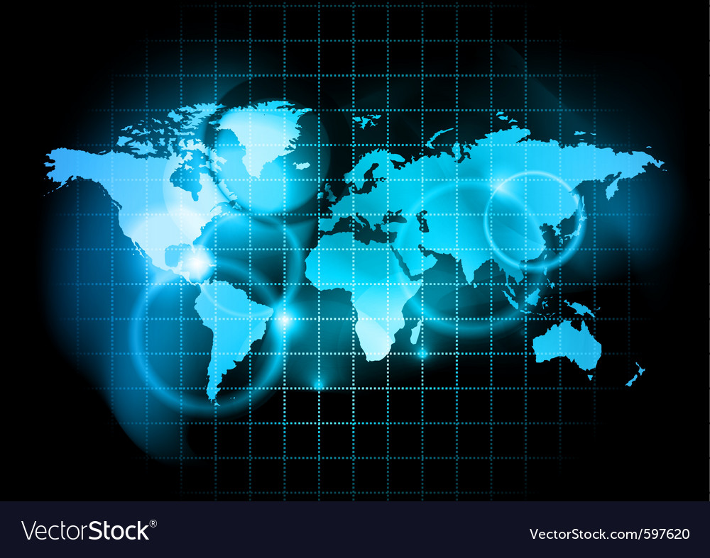Blue map world vector | Price: 1 Credit (USD $1)