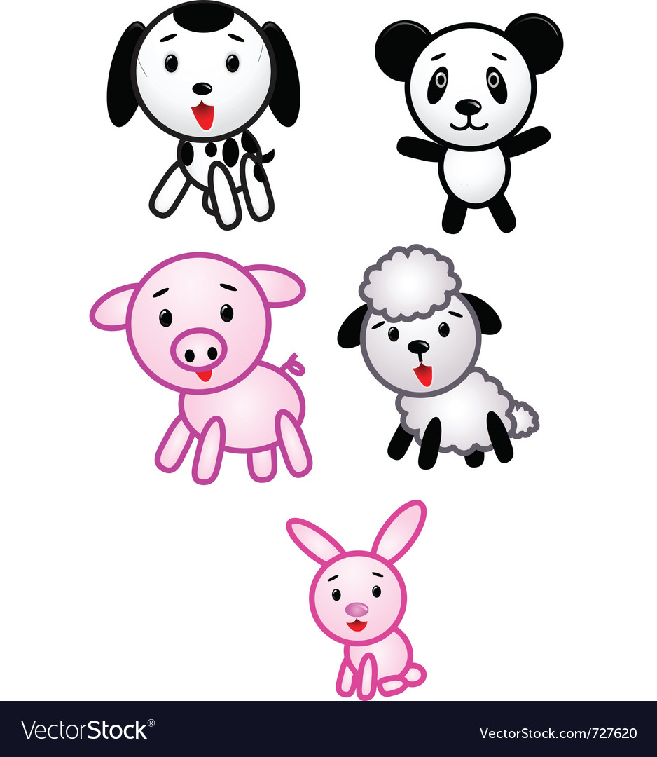 Funny animal cartoon vector | Price: 1 Credit (USD $1)