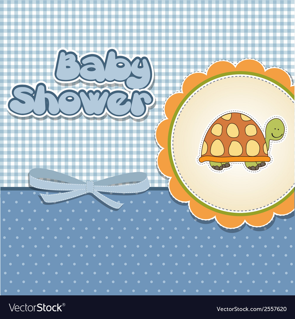Funny baby shower card vector | Price: 1 Credit (USD $1)