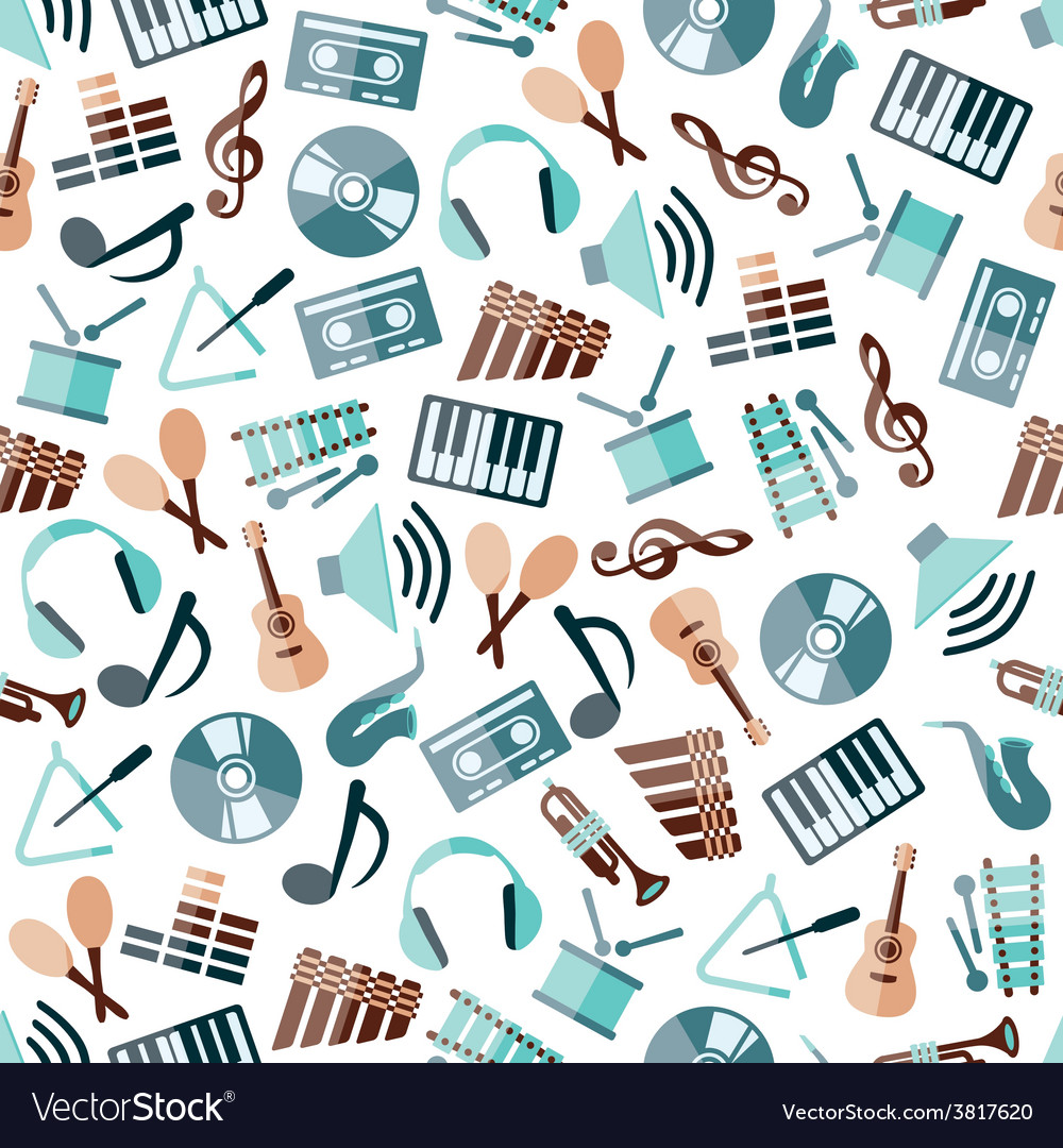 Music seamless pattern vector | Price: 1 Credit (USD $1)