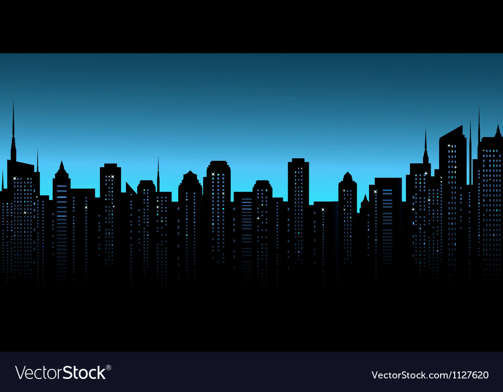 Night city background with business office and vector | Price: 1 Credit (USD $1)