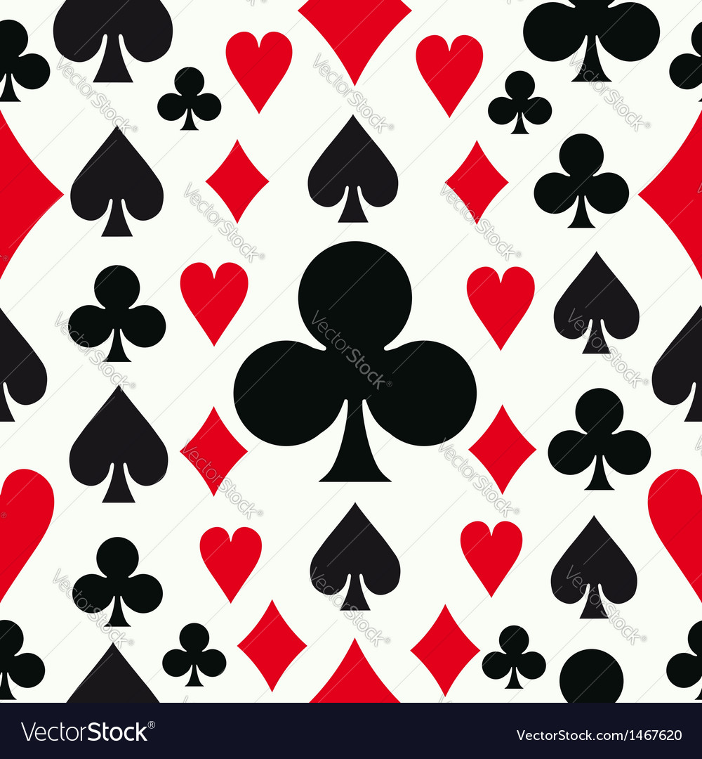 Seamless poker pattern background vector | Price: 1 Credit (USD $1)