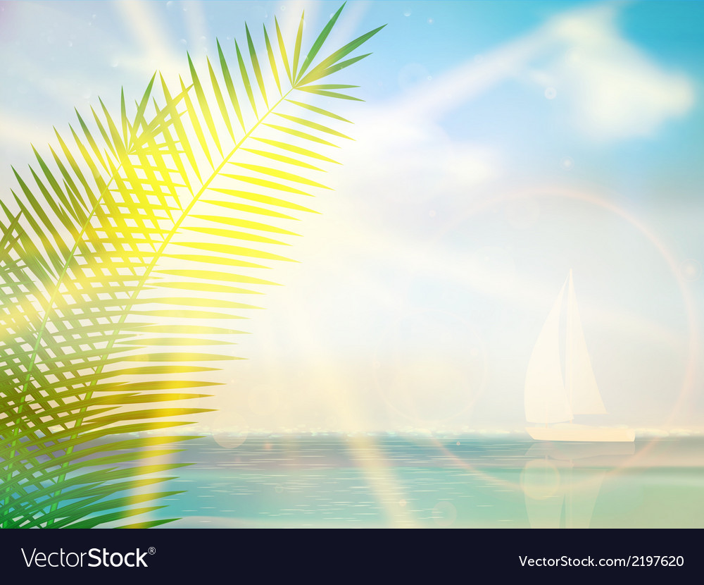 Vintage palm background design template vector | Price: 1 Credit (USD $1)