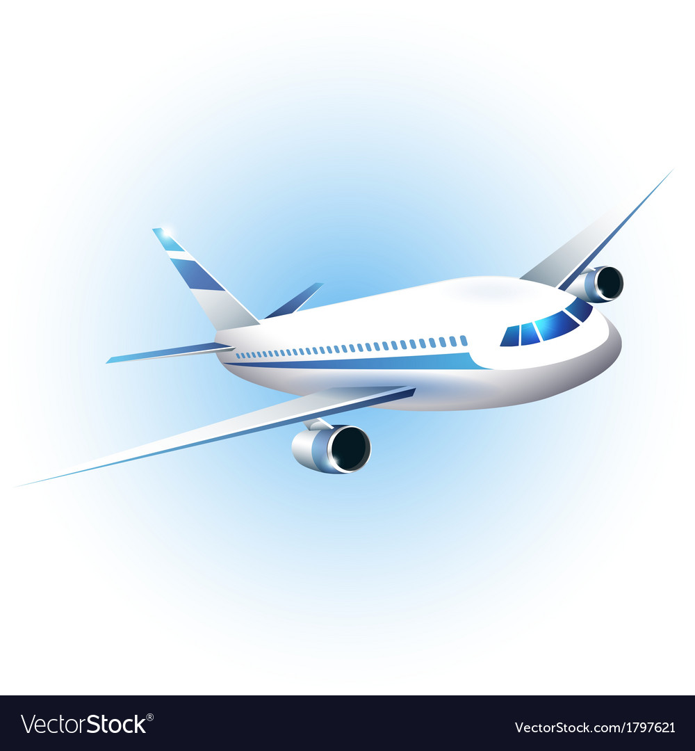 The airplane vector | Price: 1 Credit (USD $1)