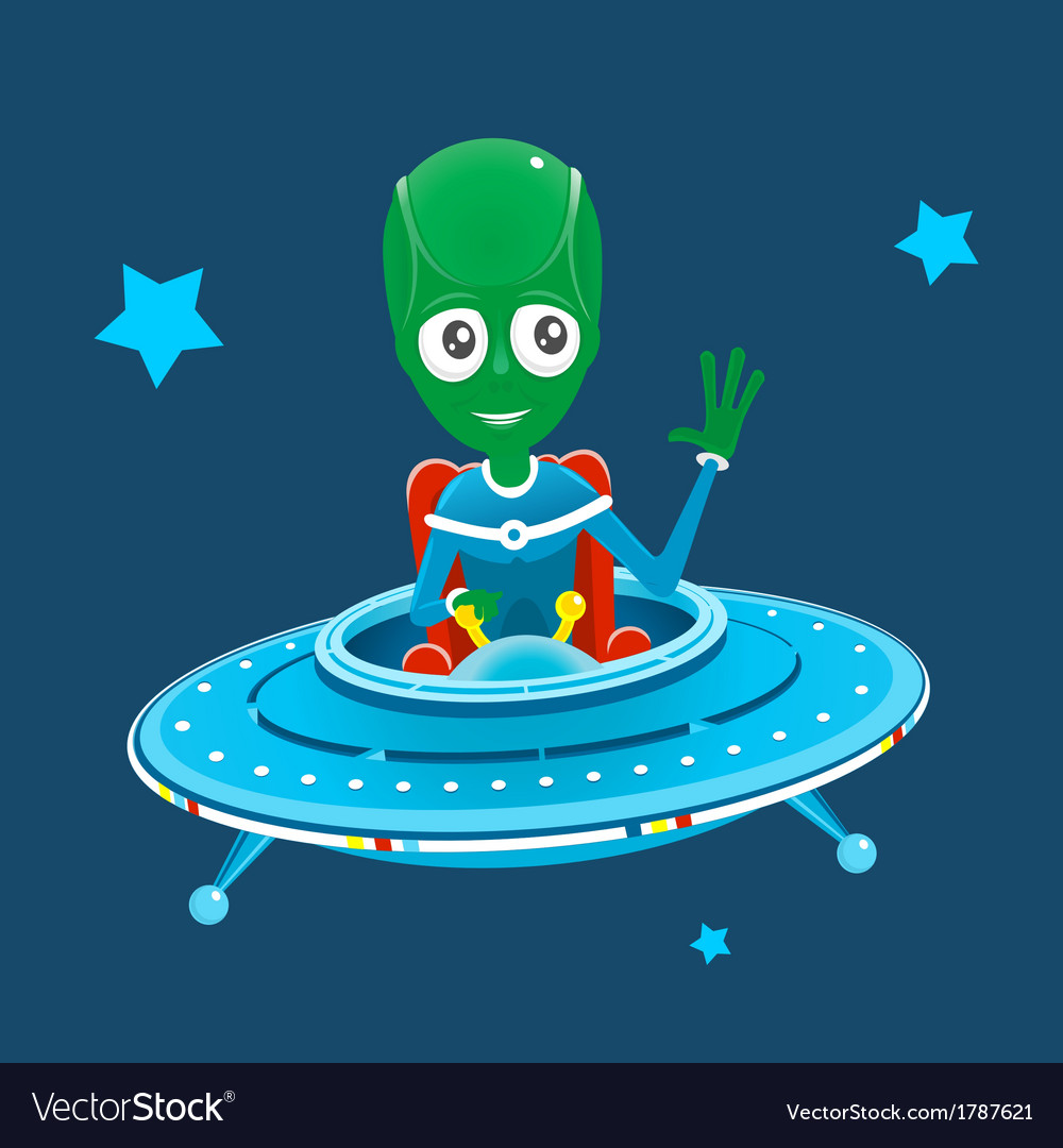 Alien spaceship vector | Price: 1 Credit (USD $1)