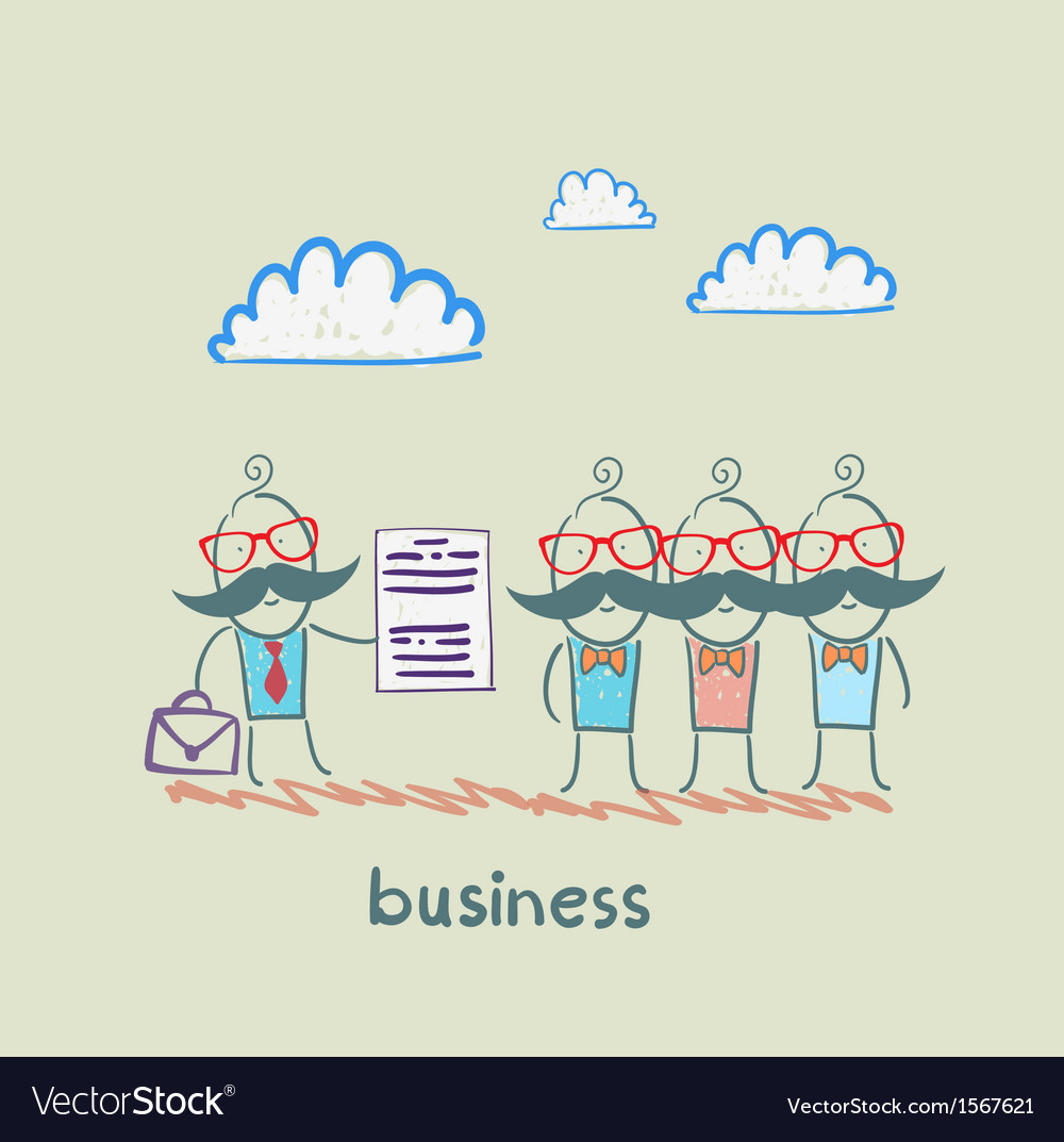 Businessman talks about business people vector | Price: 1 Credit (USD $1)