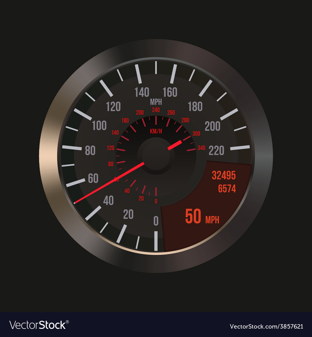 Car dashboard speedometer vector | Price: 1 Credit (USD $1)