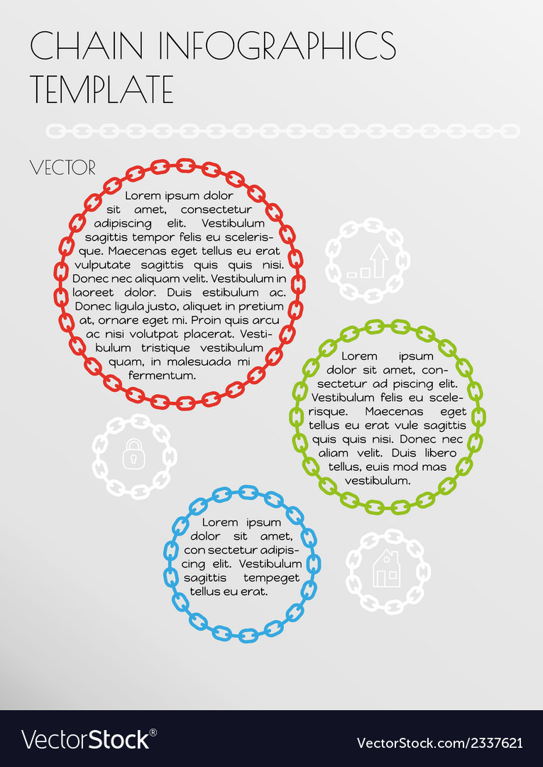 Chain infographcs vector   Price: 1 Credit (USD $1)