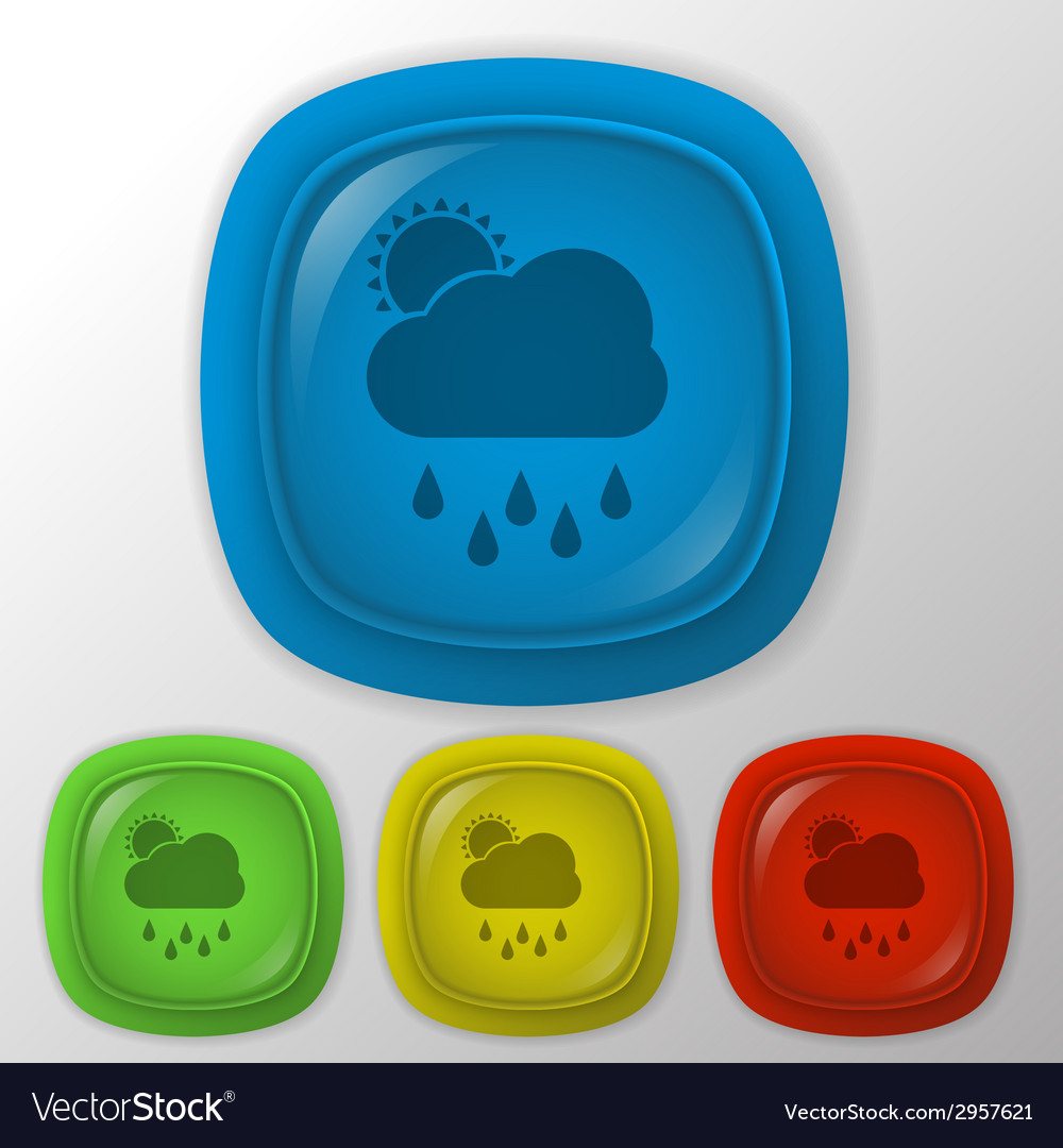 Cloud rain with sun the weather icon vector   Price: 1 Credit (USD $1)