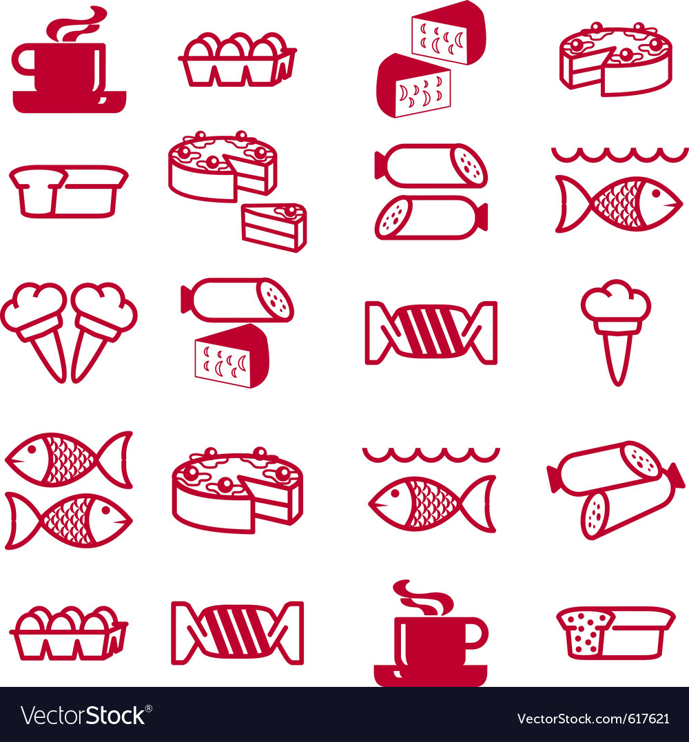 Food theme icons vector   Price: 1 Credit (USD $1)