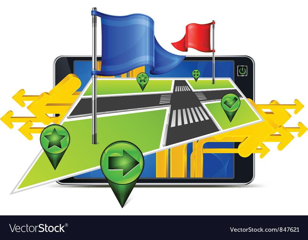 Gps navigator stylized angles map vector | Price: 3 Credit (USD $3)