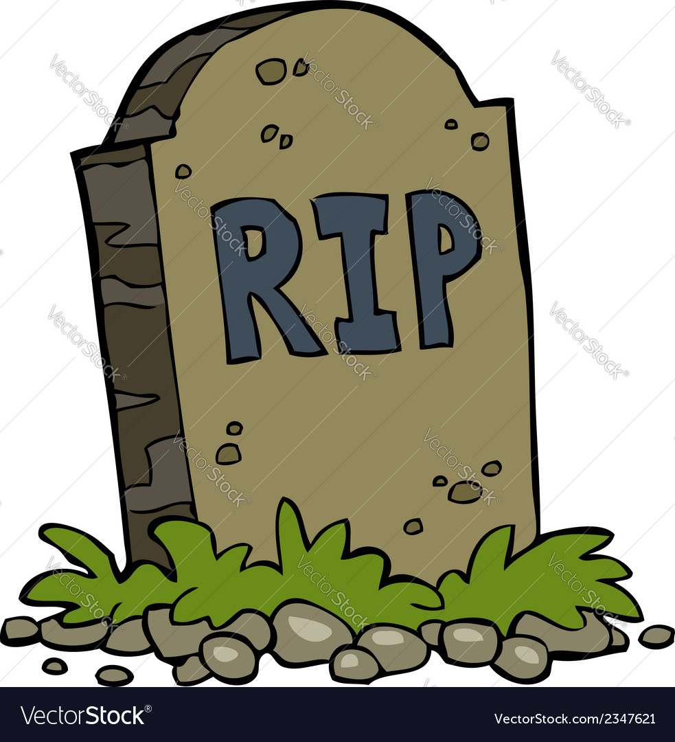 Gravestone rip vector | Price: 1 Credit (USD $1)