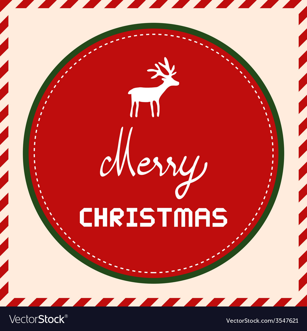 Merry christmas greeting card49 vector | Price: 1 Credit (USD $1)