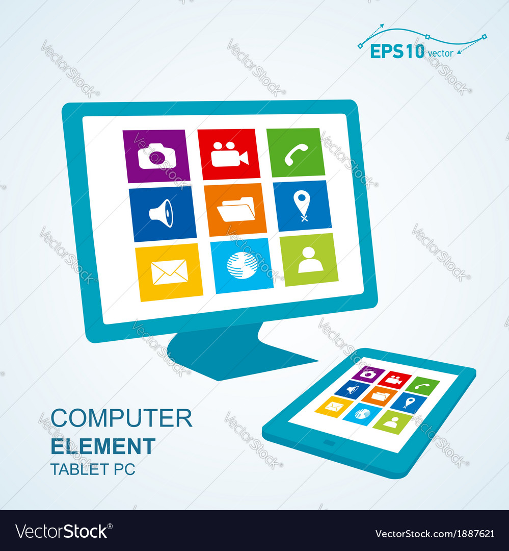 Tablet pc computer display vector | Price: 1 Credit (USD $1)