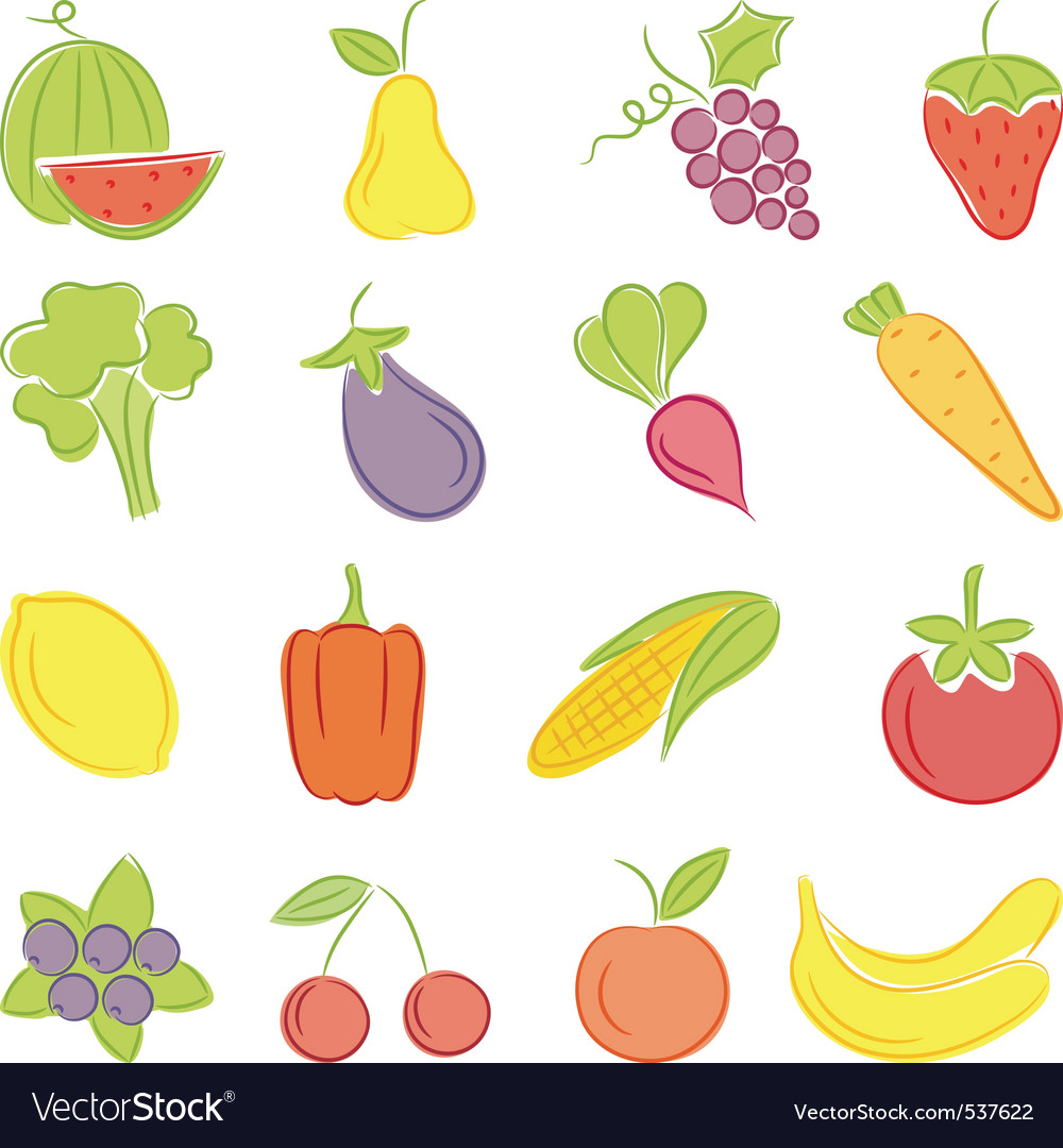 A set of hand drawing food vector | Price: 1 Credit (USD $1)