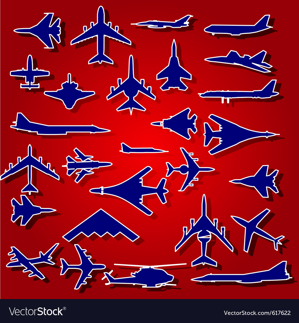 Airplane stickers vector | Price: 1 Credit (USD $1)