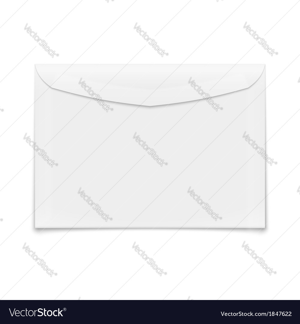 Blank envelope on white background vector | Price: 1 Credit (USD $1)