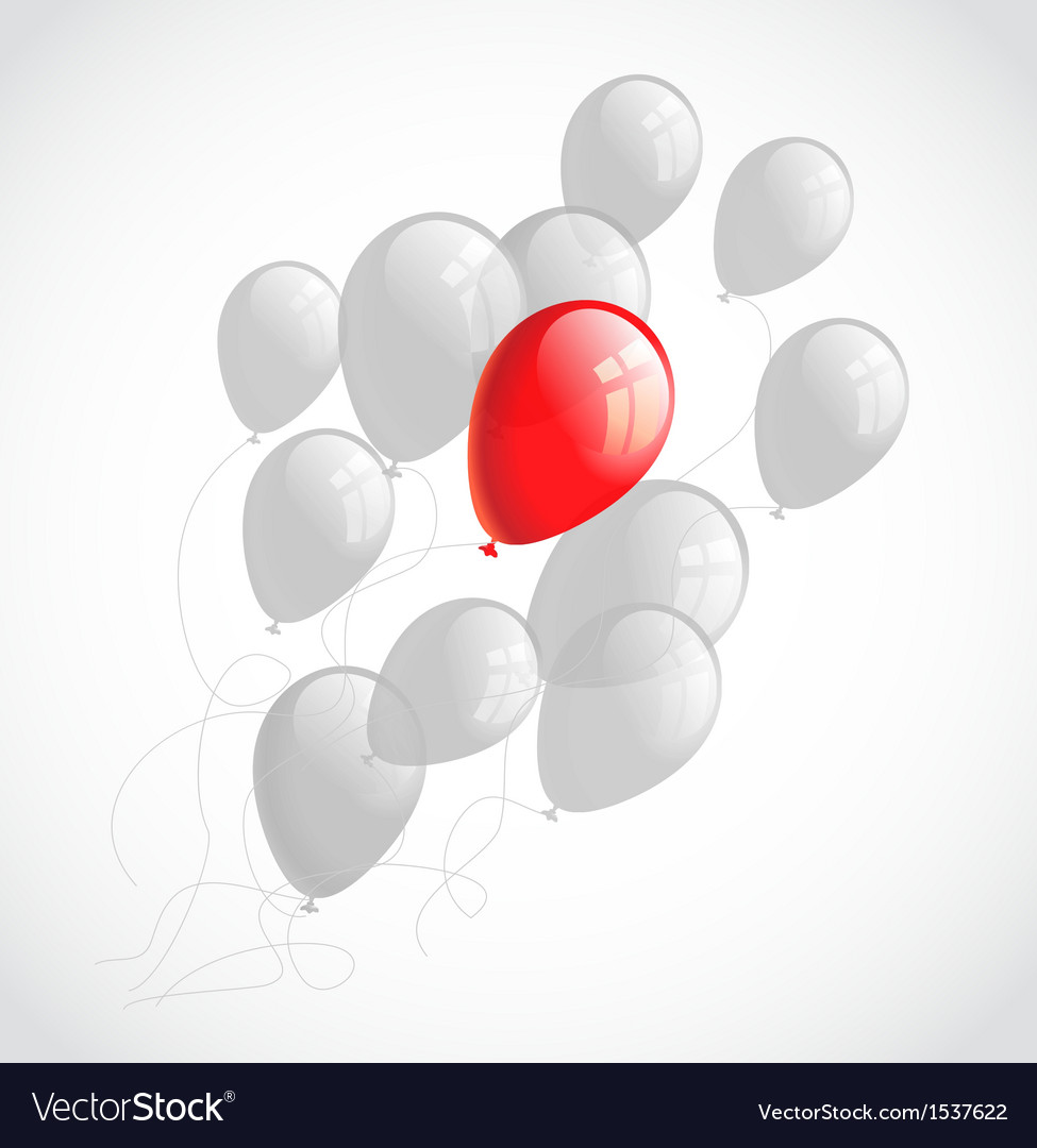 Flying balloons abstract background vector | Price: 1 Credit (USD $1)