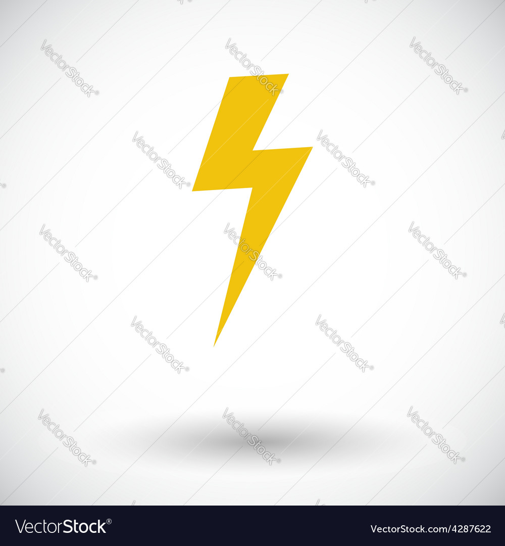Lightning single icon vector | Price: 1 Credit (USD $1)