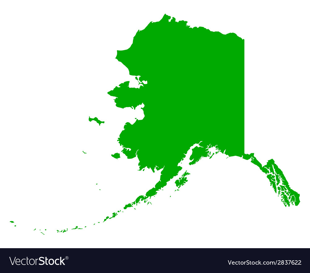 Map of alaska vector | Price: 1 Credit (USD $1)