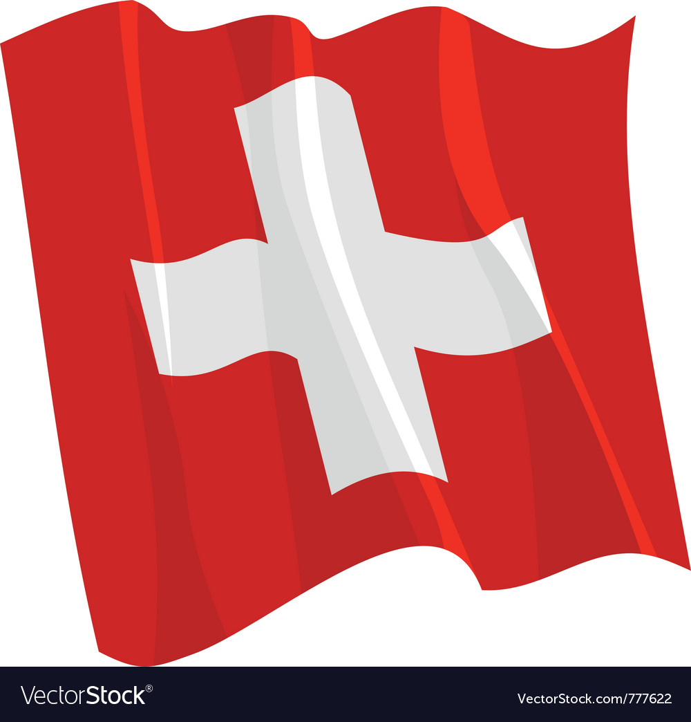 Political waving flag of switzerland vector | Price: 1 Credit (USD $1)