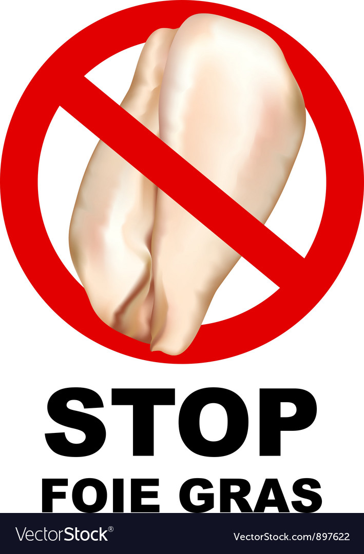 Stop foie gras sign vector | Price: 1 Credit (USD $1)