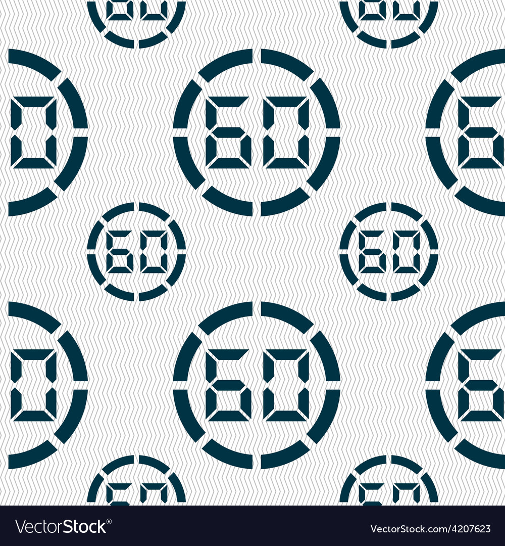 60 second stopwatch icon sign seamless pattern vector | Price: 1 Credit (USD $1)