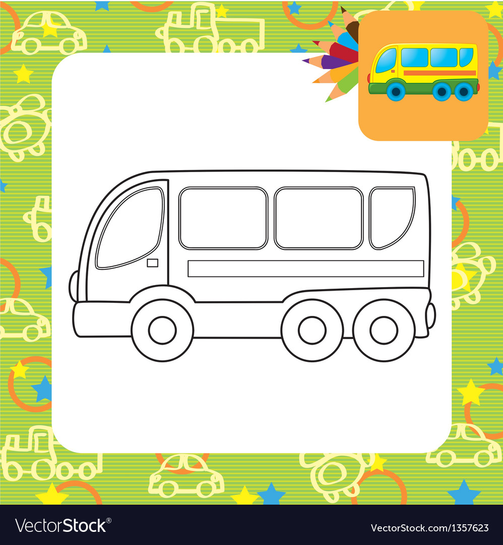 Bus toy vector | Price: 1 Credit (USD $1)