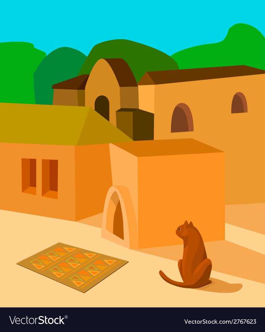 Cat in the sun vector | Price: 1 Credit (USD $1)
