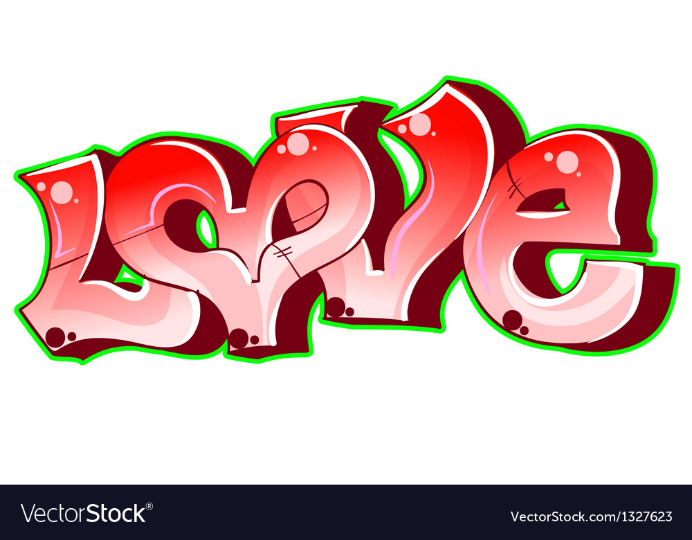 Graffiti urban art love vector | Price: 1 Credit (USD $1)