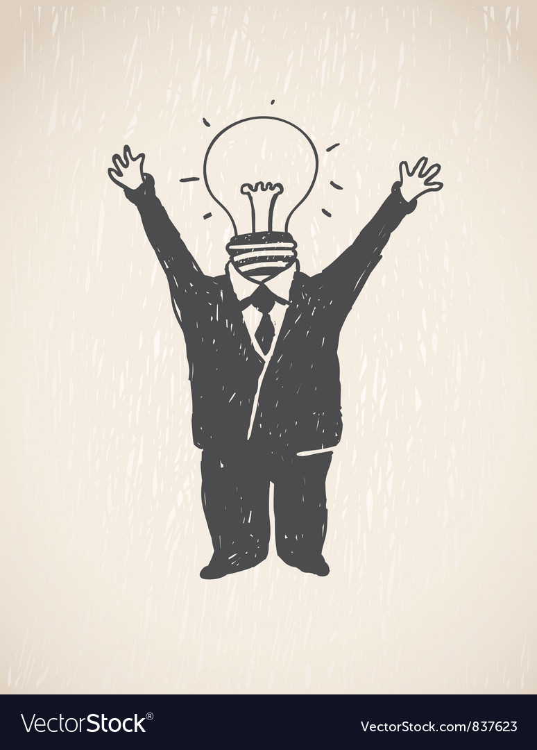 Idea lamp head businessman vector | Price: 1 Credit (USD $1)