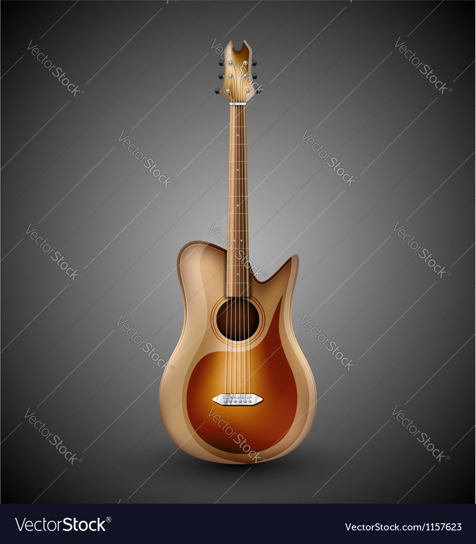 Isolated acoustic guitar vector | Price: 1 Credit (USD $1)