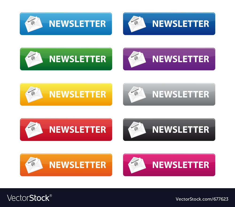 Newsletter buttons vector | Price: 1 Credit (USD $1)