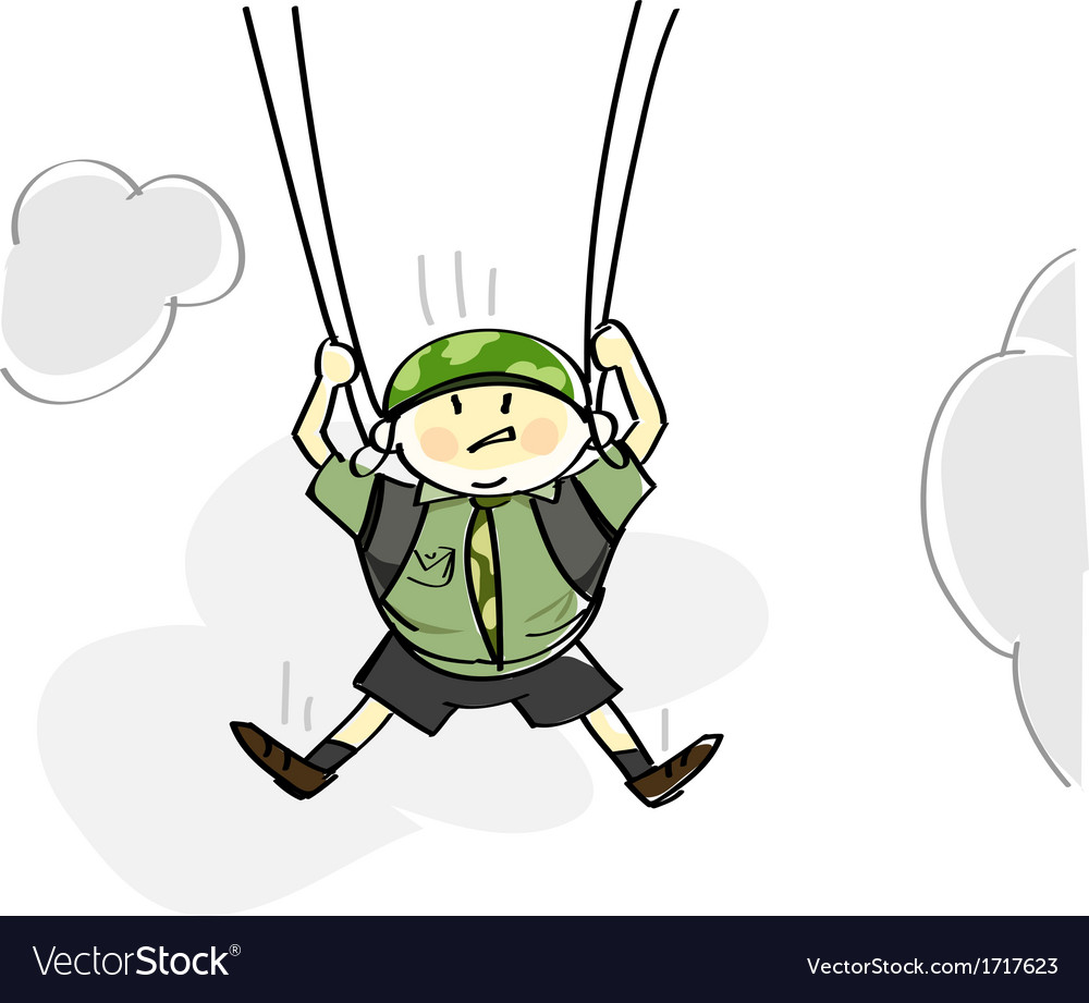 Parachutist vector | Price: 1 Credit (USD $1)